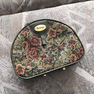 Firenze Vintage Green Floral Hat Size Luggage Bag
